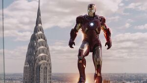 Anthony Stark (Earth-199999) with Iron Man Armor MK VII (Earth-199999) from Marvel's The Avengers 002