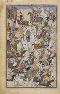 Safavid Dynasty, Battle Scene, by Mahmud Musawwir, 1525-1550 AD (2)