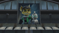 Ratchet and Clank cameo poster from Jak II.png