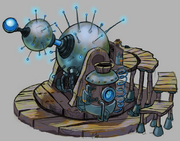 Levitation machine concept art