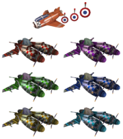 Sky Raider racers with target drone