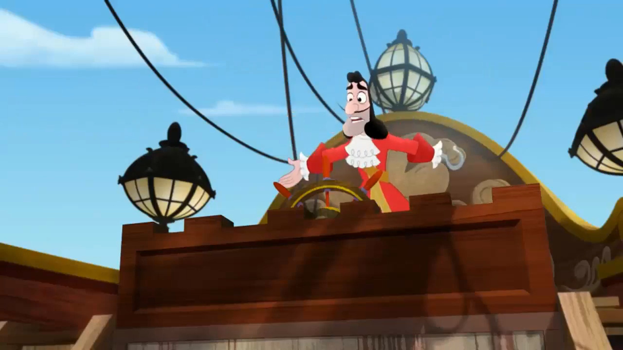 Image - Captain Hook without his hat.PNG | Jake and the ...