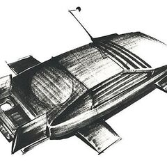 Ken Adam's design for the Lotus submersible.