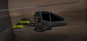 Je kon zelfs rondvliegen in kleine helicopters