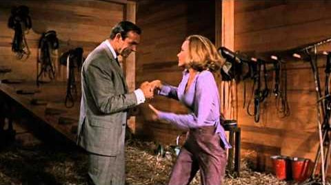 Goldfinger - James Bond & Pussy Galore Barn Scene