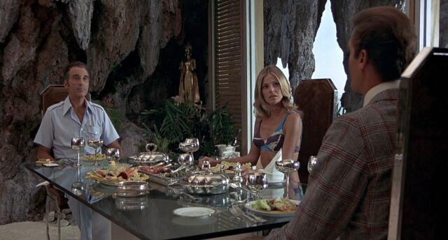 File:TMWTGG - Bond dines with Scaramanga and Goodnight.jpg