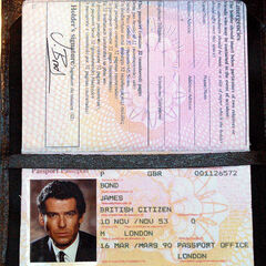 James Bond's actual passport.