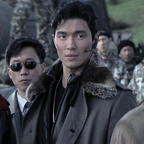 Zao and Moon confront Bond in the pre-title sequence.