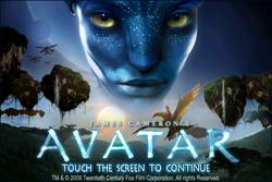 AVATAR iPhone game main screen
