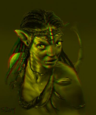 File:Neytiri RED GREEN 3D version art.jpg