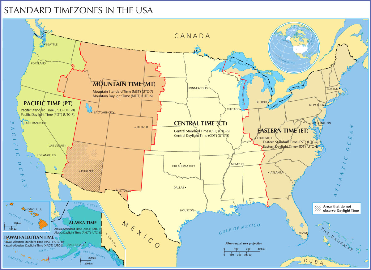 Time Zone Wikipedia Current Time In US Time Zones Time In The - Us highway map with time zones