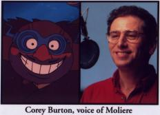 Corey Burton in the recording studio