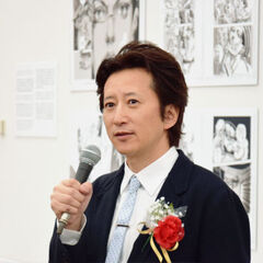 Araki at Japan Media Arts Festival (JoJolion Grand Prize)