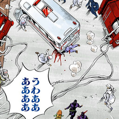 Kira is run over and killed by the ambulance sent to rescue him