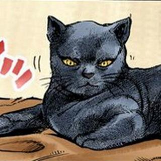Tama wary of Shinobu when she tries to approach it.