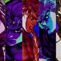 Kars, along with other main antagonists, in <i>All-Star Battle</i>