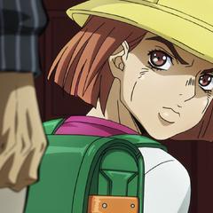 Hayato glares at Kira, rather than saying goodbye.