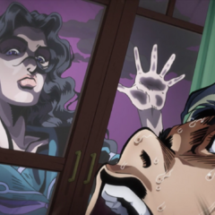 Frightened by Yukako spying on him.