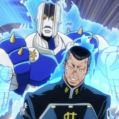 Okuyasu reveals his Stand, <a href=