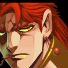 Rubber Soul disguised as Kakyoin in Heritage for the Future