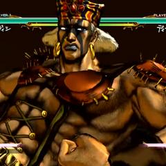 Esidisi executing his HHA, <i>All-Star Battle</i>