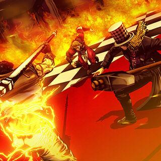 Speedwagon fighting alongside Jonathan, in JoJo's Bizarre Adventure: Eyes of Heaven PS3/PS4
