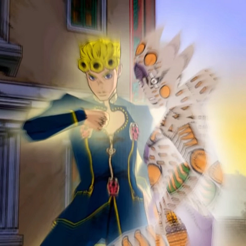 Giorno and Gold Experience Requiem in <i><a href=