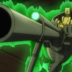 Ratt's unfolded form, revealing a scope and barrel.