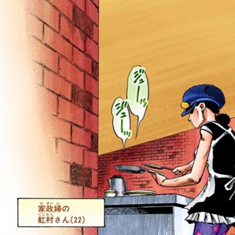 Kyo serving breakfast