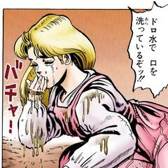 Erina washes her faces with bad water
