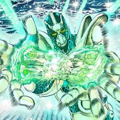 Hierophant Green using Emerald Splash