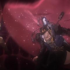 Jotaro gets struck by High Priestess's tongue