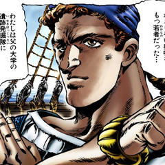 A young Zeppeli as a sailor