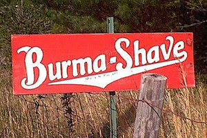 Burma-Shave Signs