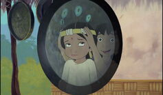 Mowgli gives Shanti a feather hat