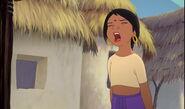 Shanti is screaming stop