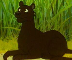 Bagheera watching Mowgli
