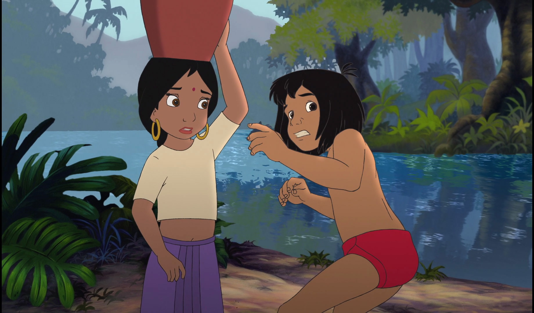 Image - Mowgli and Shanti are scared and worried.jpg ...