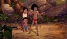 Mowgli is trying to save Shanti and Ranjan