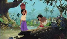 Mowgli and Shanti both arrived at the jungle