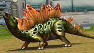 Jurassic Park Builder Stegosaurus in the battle arena (FINAL EVOLUTION)