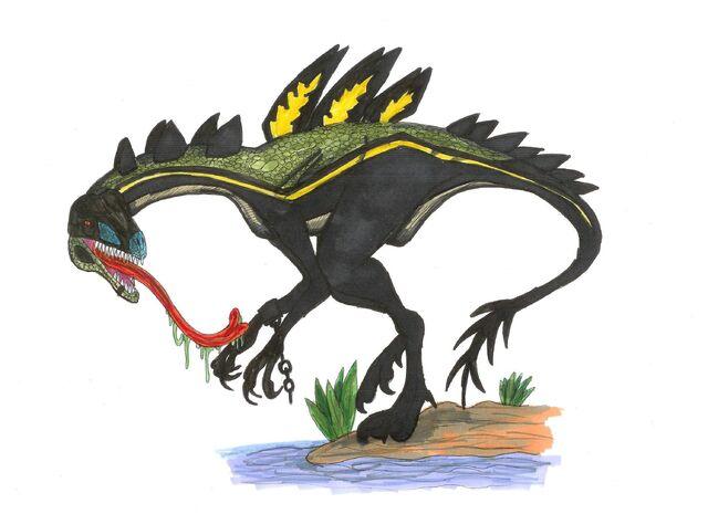 File:Jurassic park Compstegnathus by hellraptor.jpg