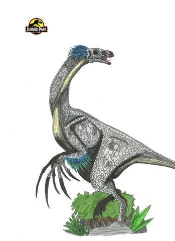 File:Jurassic Park Therizinosaurus by hellraptor.jpg