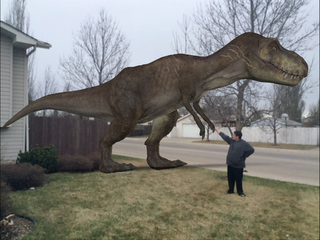 File:The park's veteran Tyrannosaurus rex in my front yard .png