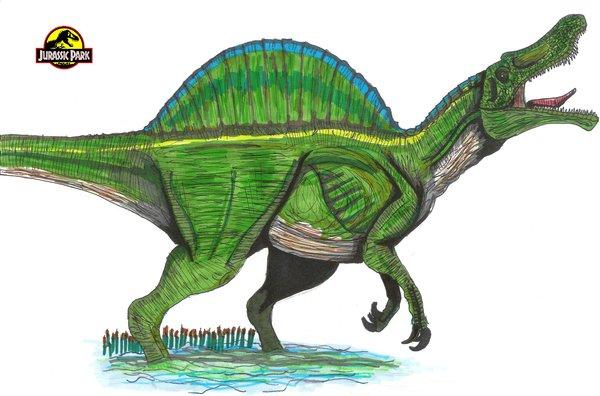 File:JP Spinosaurus male by hellraptor.jpg