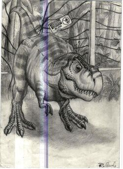 Young t rex of jurassic park by spinojp-d38jnlc