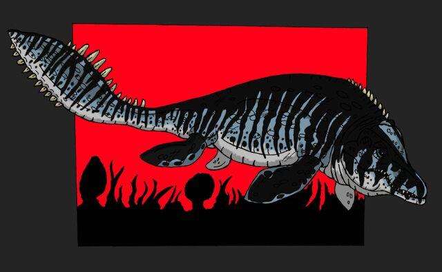 File:Jp tylosaurus proriger sornaiensis by hellraptor-d6229un.jpg
