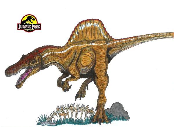 File:Jurassic Park Spinosaurus by hellraptor.jpg