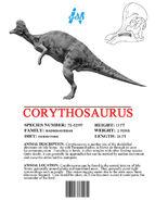 Ingen Dinosaur Info Sheets Corythosaurus