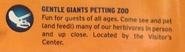 Gentle Giant Petting Zoo JW map